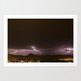 Olot Storm Art Print