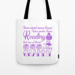 Reading Grammy Tote Bag