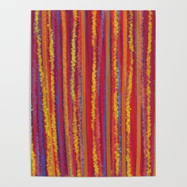 Stripes  - Cheerful yellow orange red and blue Poster