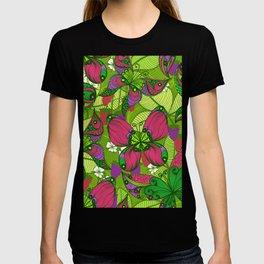 Hand Drawn Butterfly Pattern 04 T-shirt