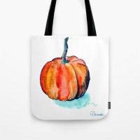 pumpkin Tote Bags featuring Pumpkin by Elena Sandovici