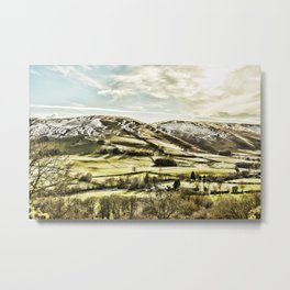 The valley in light snow Metal Print