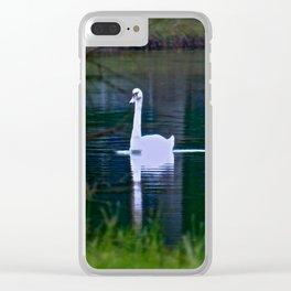 Swan Ghost Clear iPhone Case