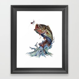 Bass Fish Framed Art Print
