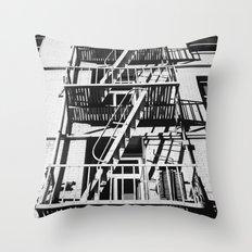 stairs black Throw Pillow