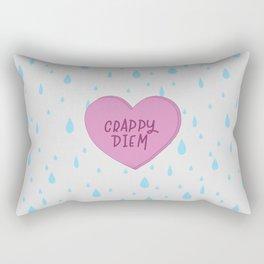 Extra crappy diem. Rectangular Pillow