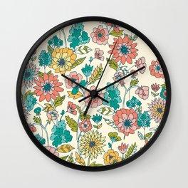 Lush Floral Wall Clock