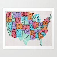 USA in color Art Print