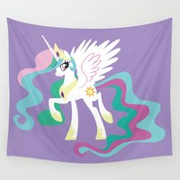 mlp Wall Tapestries featuring Princess Celestia by Adrian Mentus