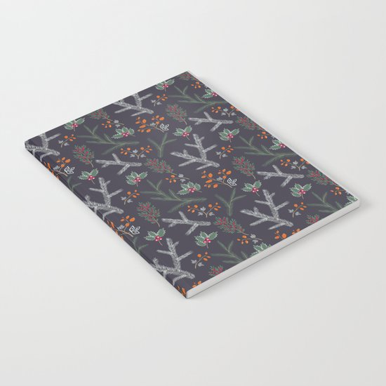 Retro. Christmas pattern . Notebook