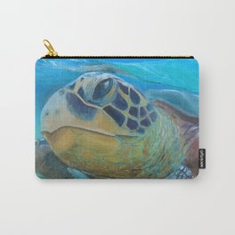 Sea Turtle Cameo Carry-All Pouch