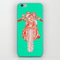 cafe racer iPhone & iPod Skins featuring Cafe Racer front view by Paul McCreery