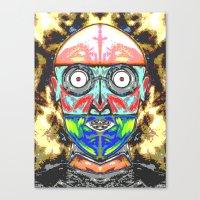 meme Canvas Prints featuring SERF MEME by Laertis Art