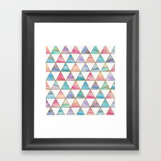 Marble Triangles Pattern Framed Art Print