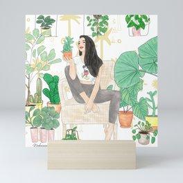 Plants are friends Mini Art Print