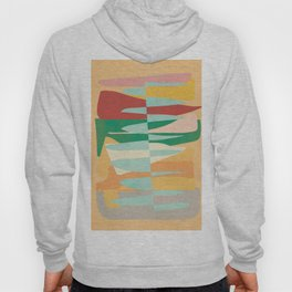 Abstract Vertical Waves Hoody