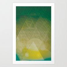 illuminate me green Art Print