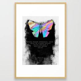 Learn Anew (Portuguese) Framed Art Print