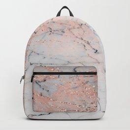 Rose Glitter Marble Backpack