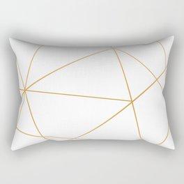 geometric gold and white Rectangular Pillow