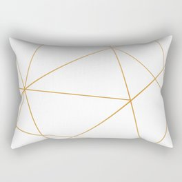 geometric gold and white Rectangular Pillow