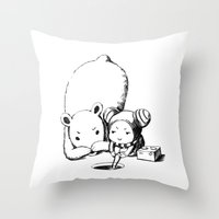 fishing Throw Pillows featuring Fishing by Freeminds