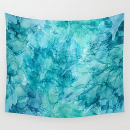 Dreams in Teal Wall Tapestry