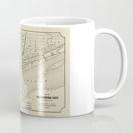 Map of Harrisburg, Pennsylvania (1884) Coffee Mug
