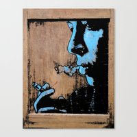 smoke Canvas Prints featuring SMOKE by ARTito