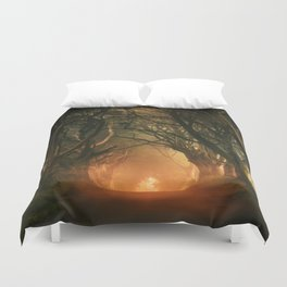 When the day begins... Duvet Cover