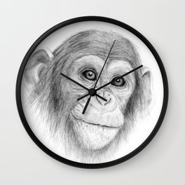 A Chimpanzee :: Not Monkeying Around Wall Clock