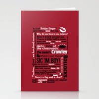 crowley Stationery Cards featuring Supernatural - Crowley Quotes by natabraska