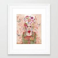 marie antoinette Framed Art Prints featuring Marie-Antoinette by Minasmoke