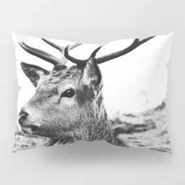 The Stag on the hill - b/w Pillow Sham