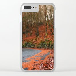 The Orange Forest Clear iPhone Case