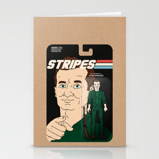 Stripes Action Figure Stationery Cards