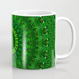 Green Garden Mandala Coffee Mug