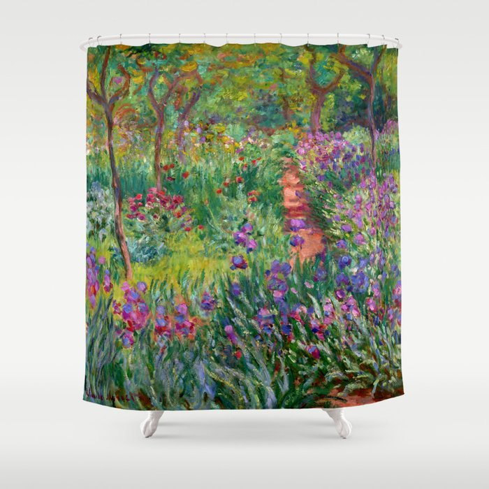 """Claude Monet """"The Iris Garden at Giverny"""", 1899-1900 Shower Curtain"""