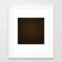 lv Framed Art Prints featuring LV Pattern by Veylow