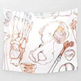 Lower Extremity Skeleton Wall Tapestry
