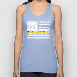 North Carolina 911 Emergency Dispatcher Gift for Police, Fire and Ambulance Dispatchers Thin Gold Unisex Tank Top