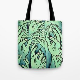 Zombie hands Tote Bag