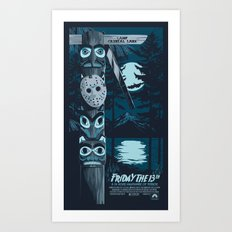 FRIDAY THE 13TH (01) Art Print