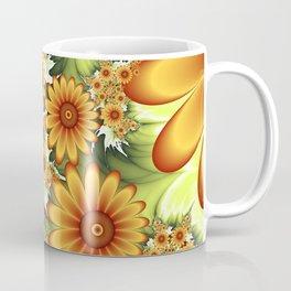 A Floral Dream Of Summer, Fractals Art Coffee Mug