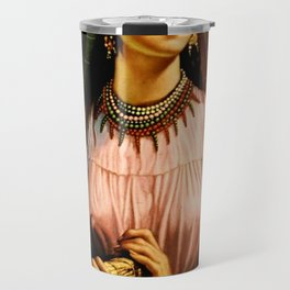 Jesus Helguera Painting of a Mexican Fisher Girl With Basket Travel Mug