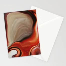 Modern Abstract Art Earth Hue Stationery Cards