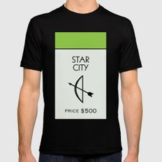 Star City Monopoly Location MEDIUM Mens Fitted Tee Black
