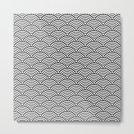 B&W | FISH SCALE PATTERN Metal Print