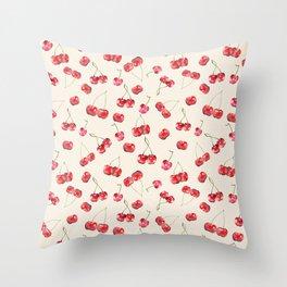 Cherry Pattern Throw Pillow