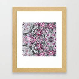 Gray and Pink Framed Art Print